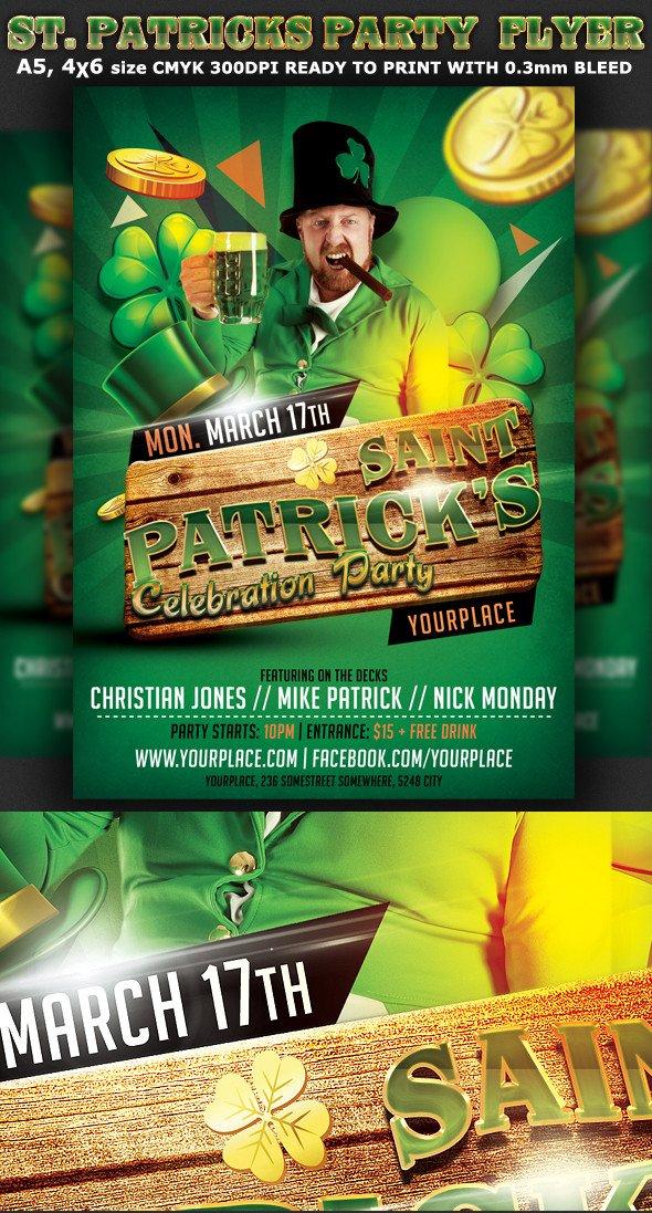 St Patrick Day Flyer St Patricks Party Flyer Template