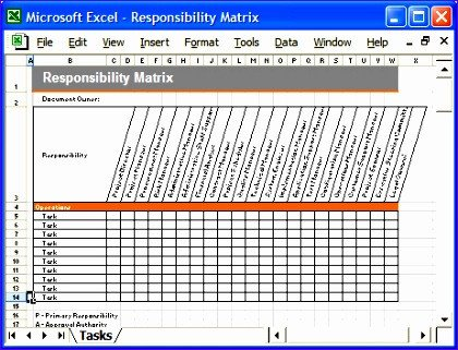 Staffing Matrix Template 9 Responsibility assignment Matrix Template Excel