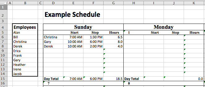 Staffing Matrix Template Staff Roster Template Excel Free