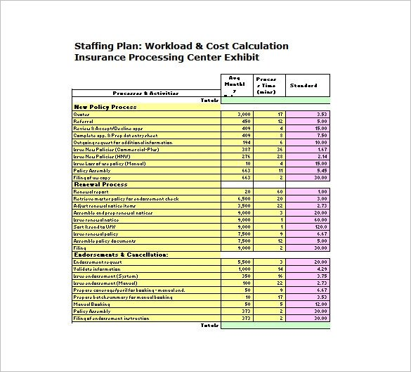 Staffing Plan Template Excel 13 Staffing Plan Templates Free Sample Example format