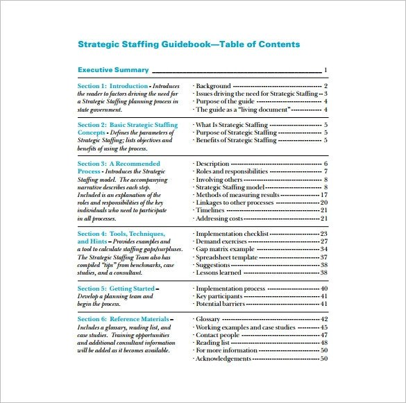 Staffing Plan Template Excel Staffing Plan