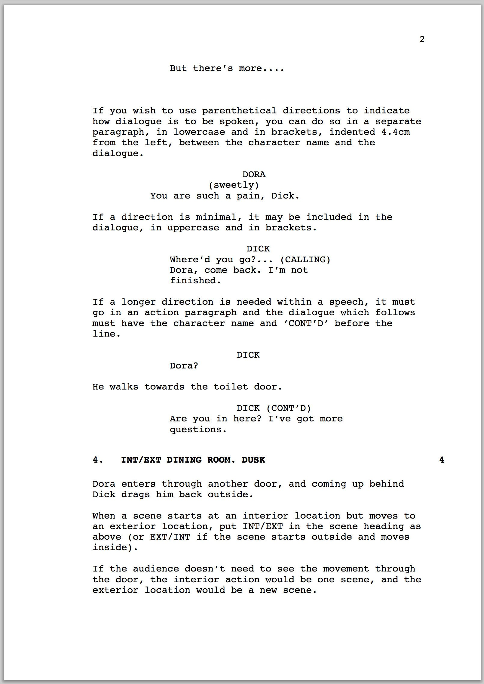 Stage Play format Template How to format A Screenplay
