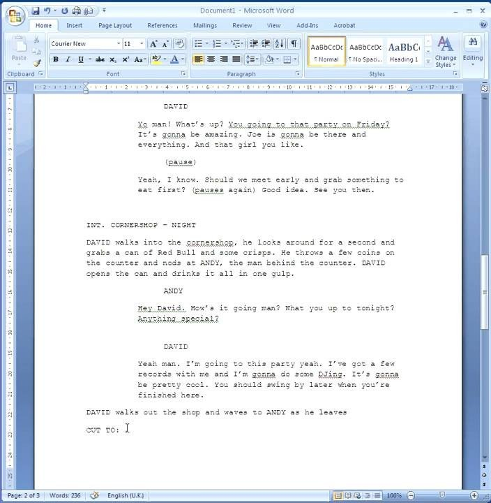 Stage Play format Template How to format Your Script