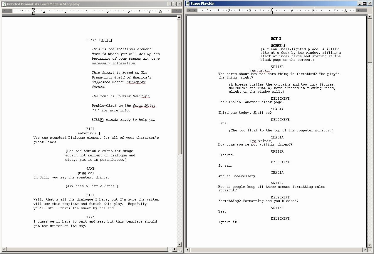 Stage Play format Template Stage Play format Template