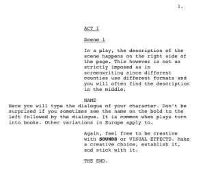 Stage Play format Template the Difference Between Stage Play Writing and