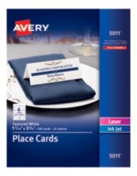 Staples Tent Card Template Avery Printable White Matte Textured Place Cards