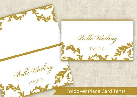 Staples Tent Card Template Diy Place Card Template Download Instantly by Karmakweddings