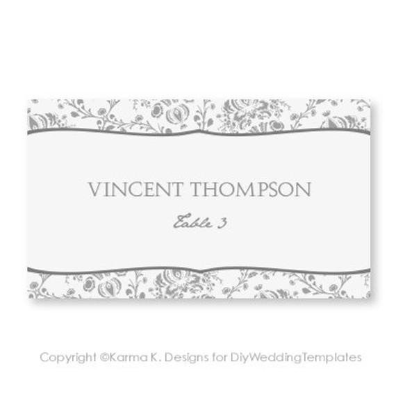 Staples Tent Card Template Place Card Template Download Instantly by Diyweddingtemplates