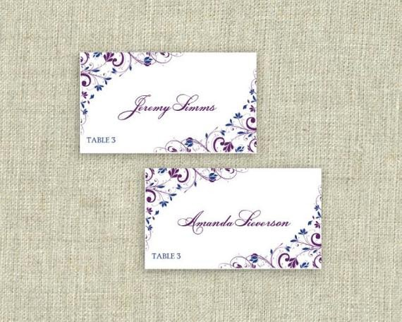 Staples Tent Card Template Place Card Template Download Instantly by Karmakweddings