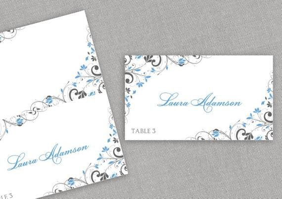 Staples Tent Card Template Place Card Template Instant Download Editable by