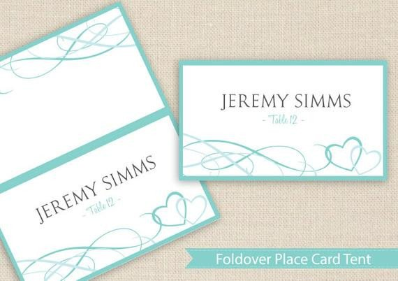 Staples Tent Card Template Place Card Tent Download Instantly by Diyweddingtemplates