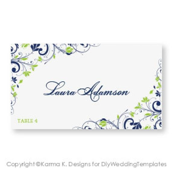 Staples Tent Card Template Wedding Place Card Template Download Instantly by