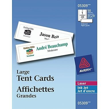 "Staples Tent Cards Template Avery Printable Tent Cards 3 1 2"" X 11"""
