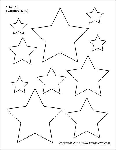 Star Cut Out Templates Basic Shapes