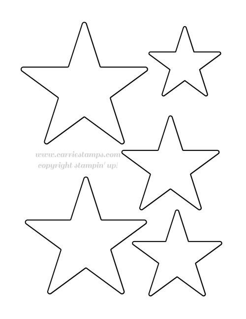 Star Cut Out Templates Carrie Stamps Template