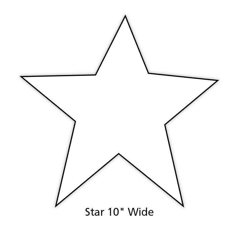 Star Cut Out Templates Paper Star Cut Out for Holiday and Classroom Decorations