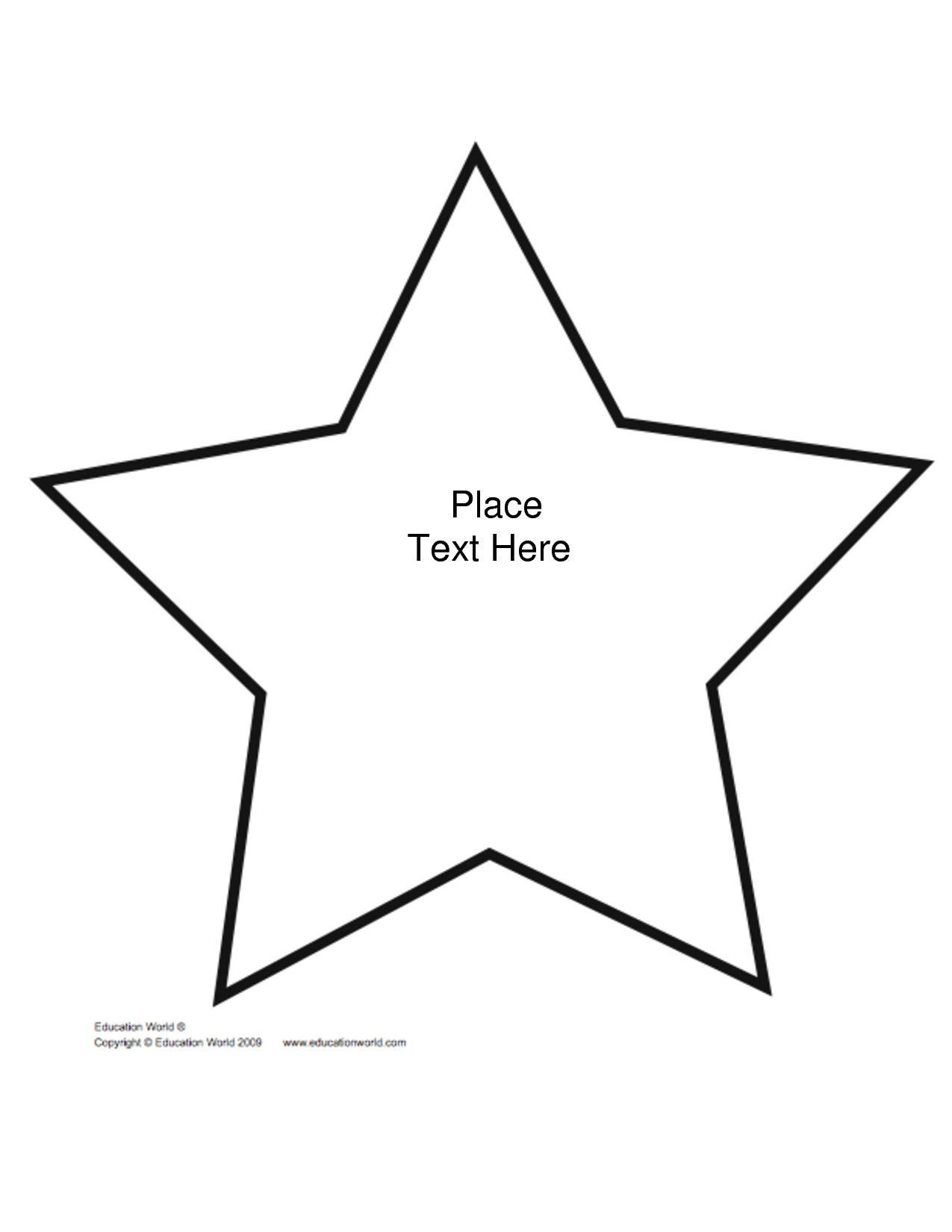 Star Cut Out Templates Printable Shape Star Template