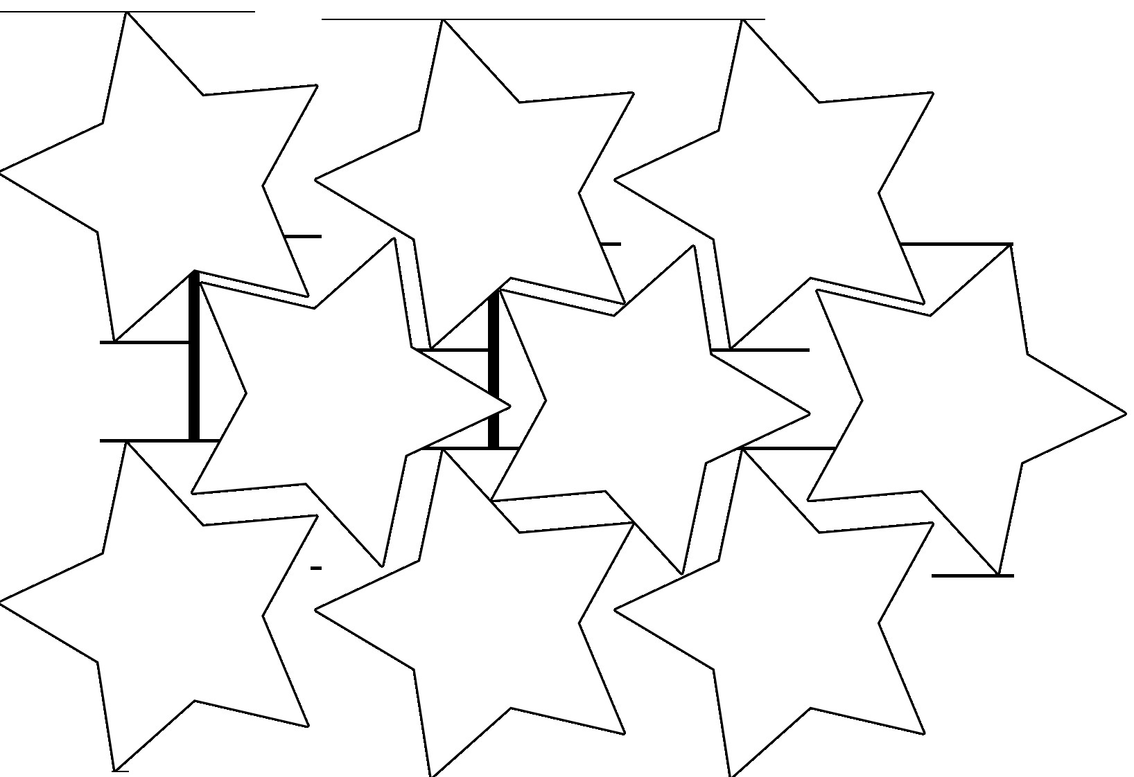Star Cut Out Templates Star Garland – Magic Activities