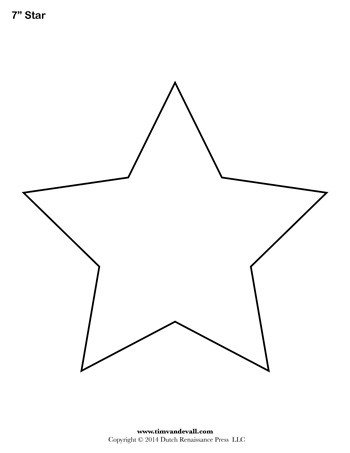 Star Cut Out Templates Star Template 7 Inch Tim S Printables
