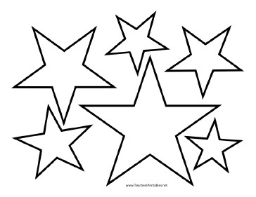Star Cut Out Templates Star Templates
