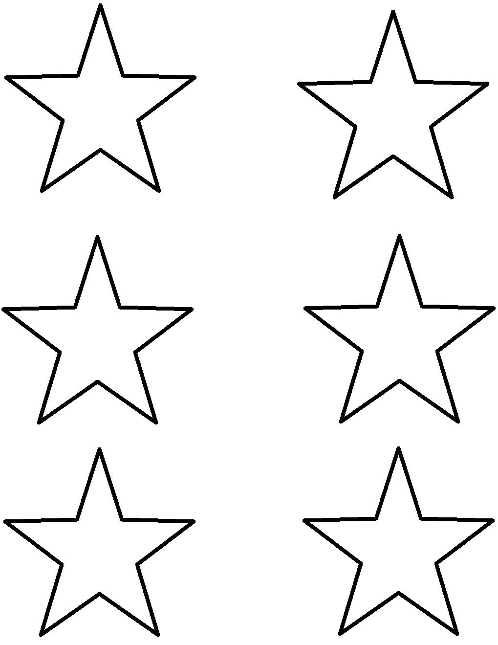 Star Cut Out Templates Writeshop Level B Printables Homeschooling 6