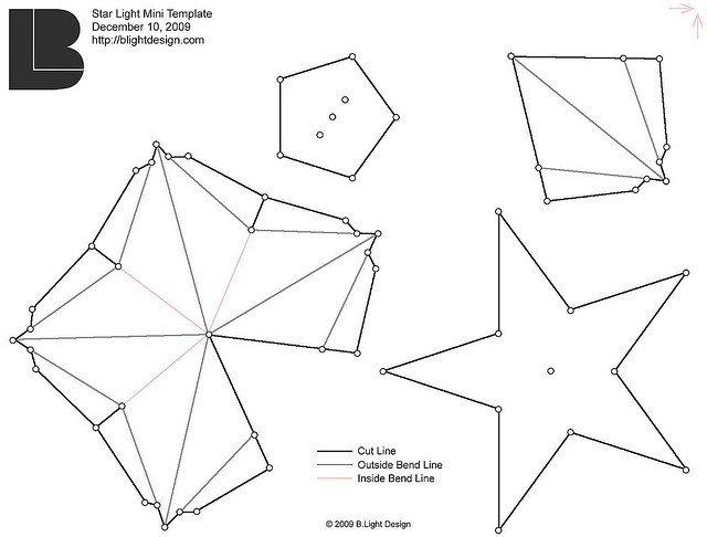 Star Lantern Template 15 Best S Of Star Pattern Paper 3d Folded Paper