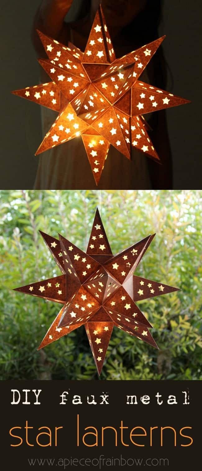 Star Lantern Template How to Make A Paper Star Lantern It Looks Like Metal