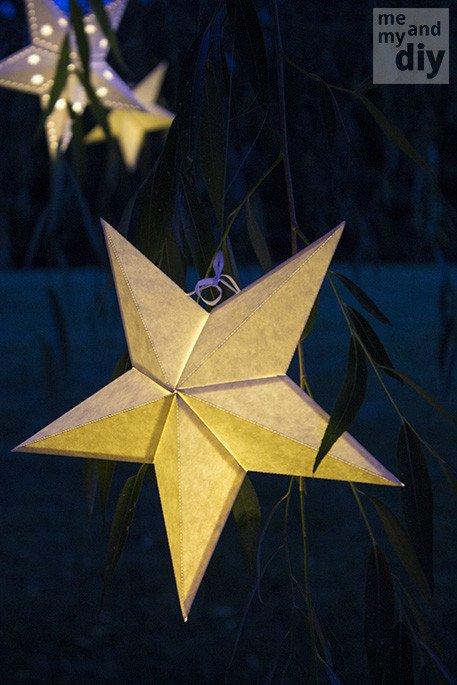 Star Lantern Template Mindblowingly Beautiful Star Shaped Diy Paper Lanterns