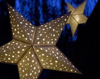 Star Lantern Template New Paper Star Lantern W Flourishes Svg Cutting File Pdf