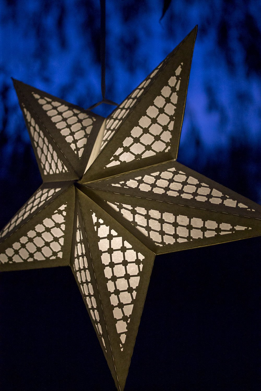 Star Lantern Template Paper Star Lantern W Lattice Cutouts Svg Cutting File