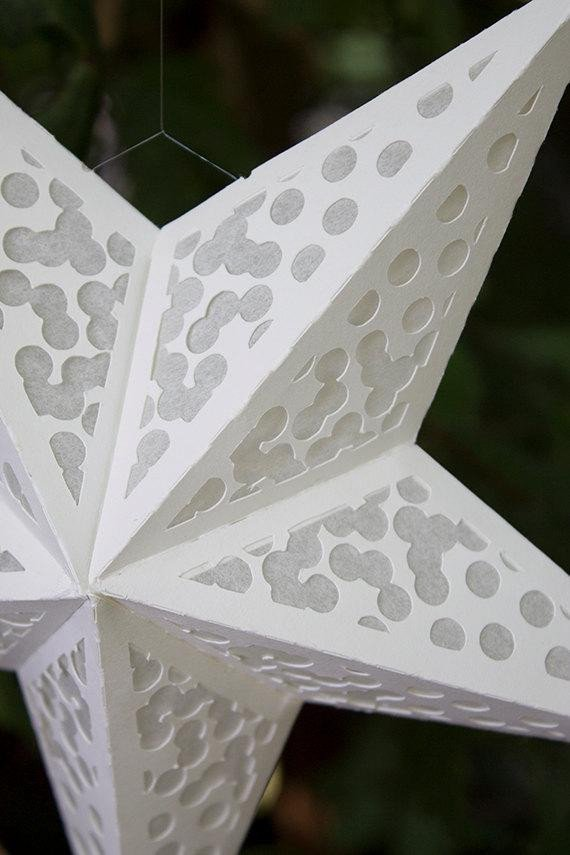 Star Lantern Template Paper Star Lantern with Confetti Cutouts by