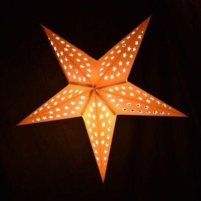 Star Lantern Template solid White Stars Cut Out Star Paper Lantern