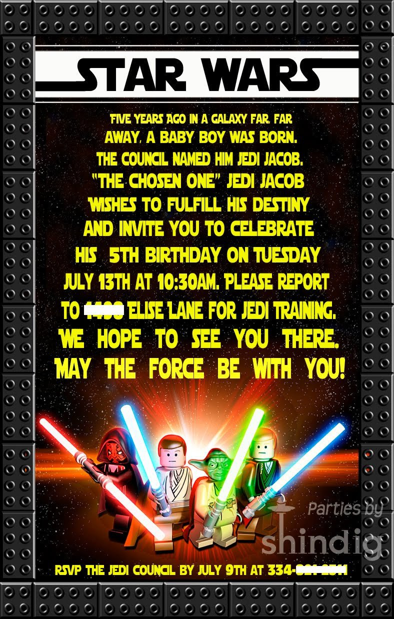 Star Wars Birthday Invitation Amanda S Parties to Go Star Wars Party Details