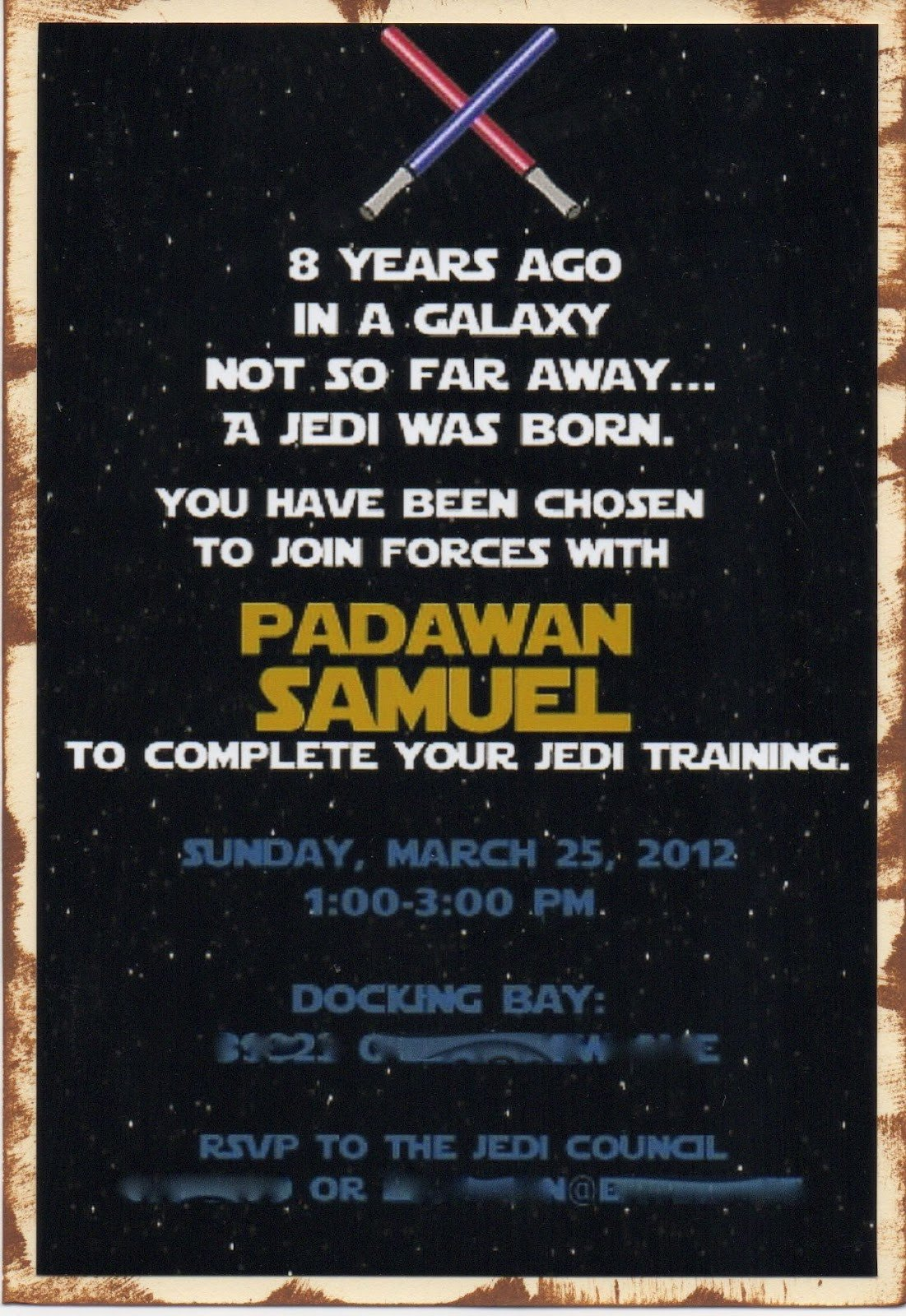 Star Wars Birthday Invitation Another Babin Creation Star Wars Birthday Invitation