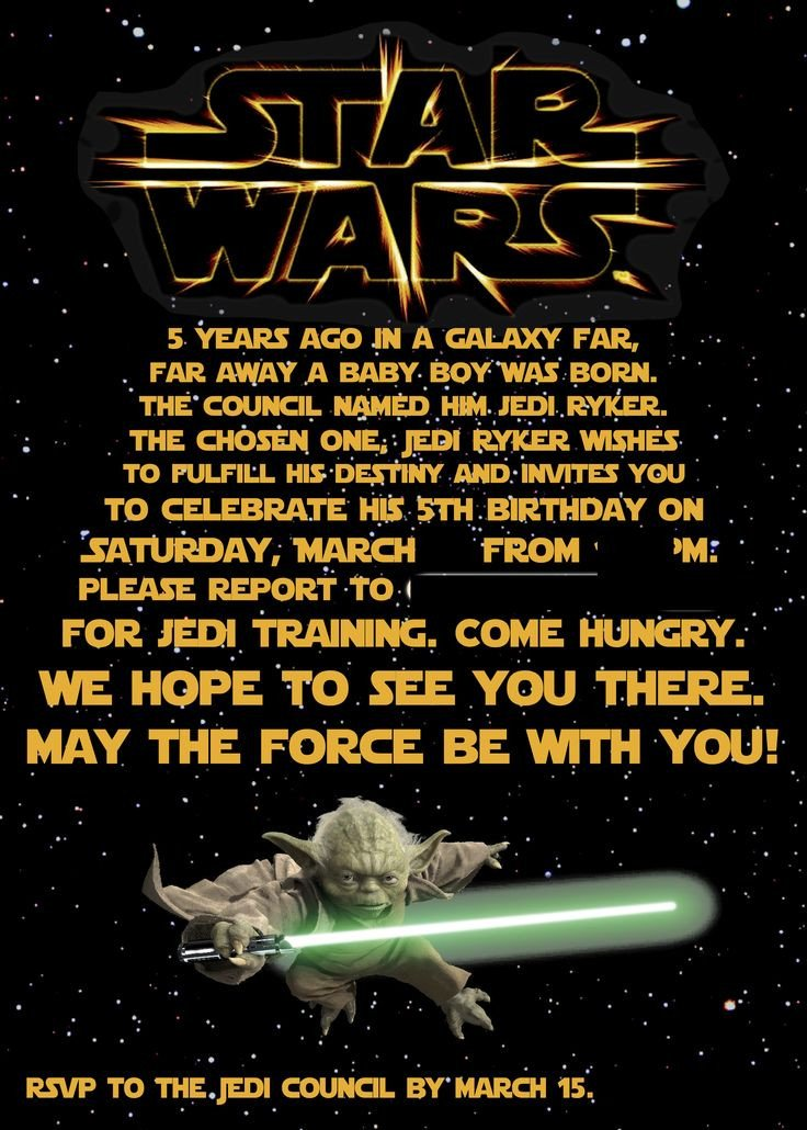 Star Wars Birthday Invitation Best 25 Star Wars Invitations Ideas On Pinterest