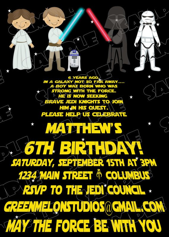 Star Wars Birthday Invitation Free Printable Star Wars Birthday Invitations – Template
