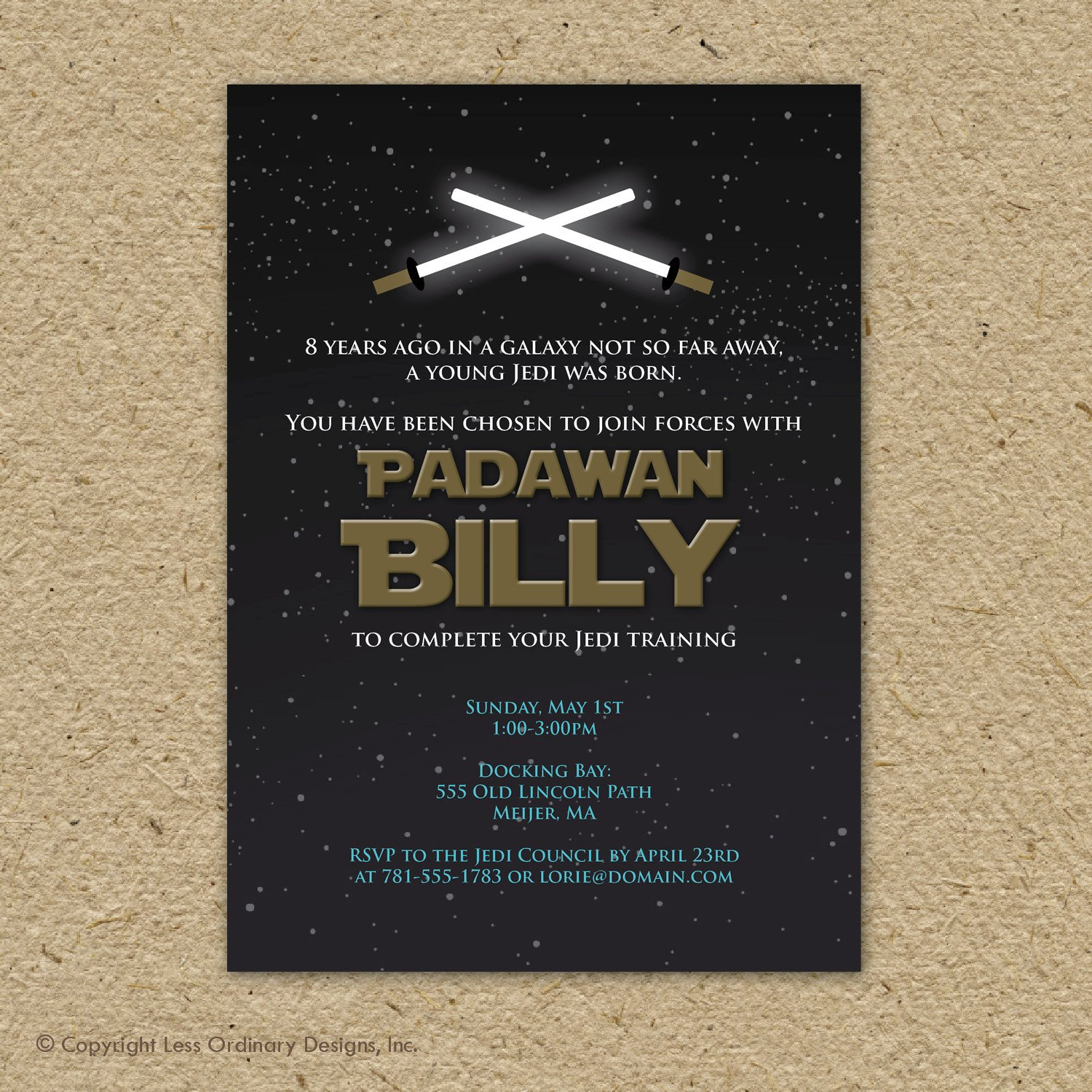 Star Wars Birthday Invitation Star Wars Birthday Party Invitation Printable by