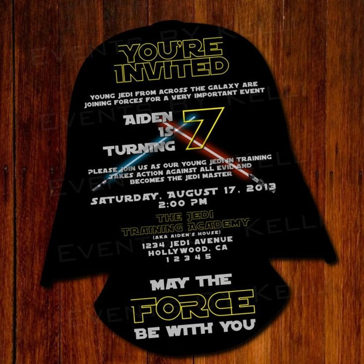 Star Wars Invitation Template 11 Best Star Wars Party Invitation Images On Pinterest