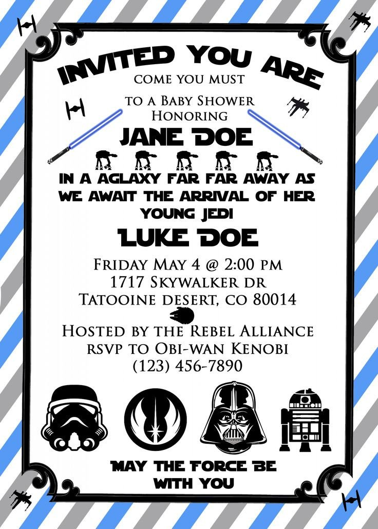 Star Wars Invitation Template 17 Best Ideas About Star Wars Invitations On Pinterest