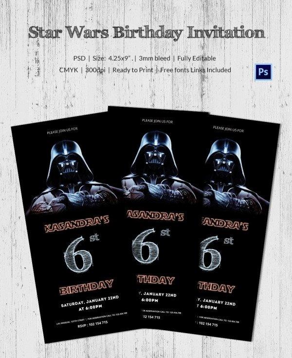 Star Wars Invitation Template 23 Star Wars Birthday Invitation Templates – Free Sample