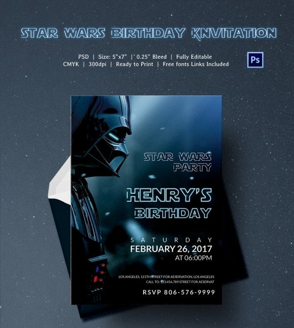 Star Wars Invitation Template 23 Star Wars Birthday Invitation Templates – Free Sample