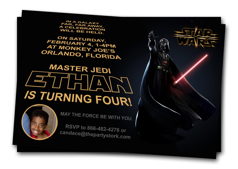 Star Wars Invitation Template Free Printable Star Wars Birthday Invitations – Template