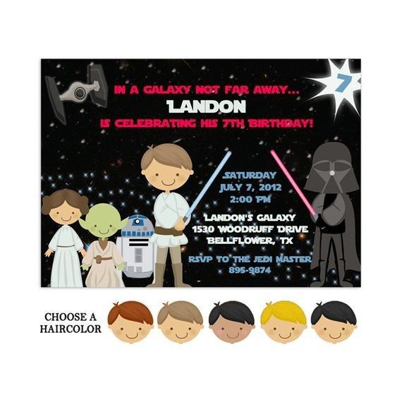 Star Wars Invitation Template Printable Star Wars Invitations Star Wars Party Template