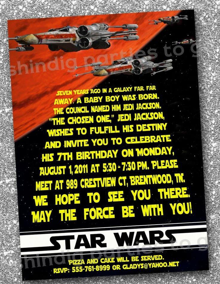 Star Wars Invitation Template Star Wars Birthday Invitations Templates Free