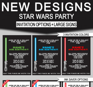 Star Wars Invitation Template Star Wars Jedi Training Birthday Party Printables