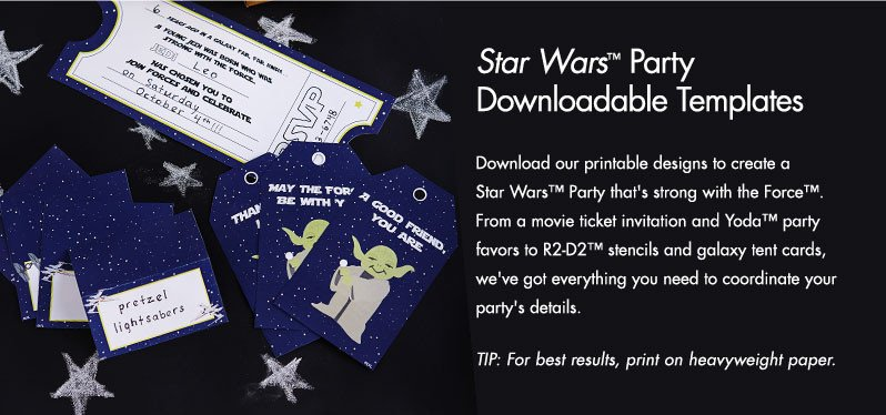 Star Wars Invitation Template Star Wars™ Party Downloadable Template