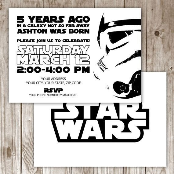 Star Wars Invitation Templates 17 Best Ideas About Star Wars Invitations On Pinterest