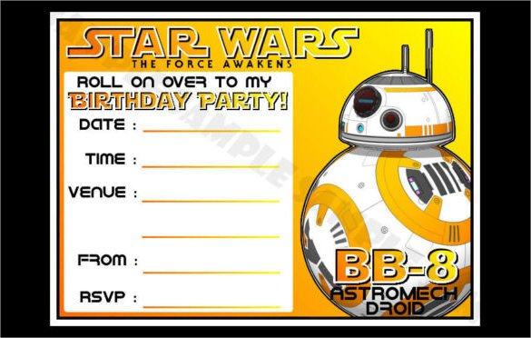 Star Wars Invitation Templates 20 Star Wars Birthday Invitation Template Word Psd