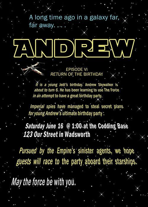 Star Wars Invitation Templates Best 25 Star Wars Invitations Ideas On Pinterest