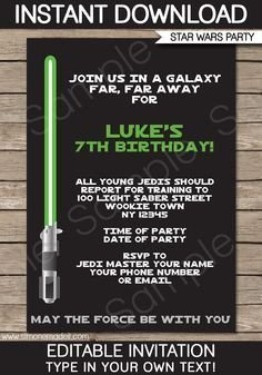 Star Wars Invitation Templates Free Printable Star Wars Party Invitations Recherche
